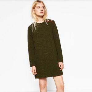 ZARA long sleeve shift dress